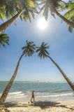 Phan Thiet beach on a sunny day Stock Images