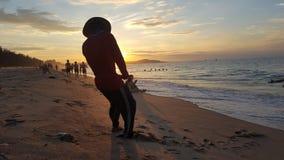 Phan Thiet plaża w ranku zdjęcia royalty free
