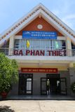 Phan Thiet train station very peaceful stock image