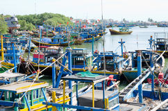 Bateaux de pêche au Vietnam Photo stock
