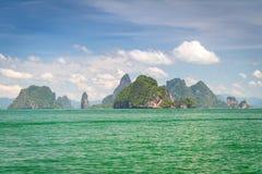 Phang Nga国家公园海岛  图库摄影