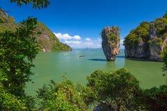 Phang Nga海湾詹姆斯庞德 库存照片