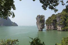 Phang Nga海湾,詹姆斯庞德海岛,泰国-储蓄图象 库存图片