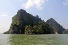 Phang Nga στη θάλασσα στην Ταϊλάνδη νησί τροπικό Στοκ φωτογραφία με δικαίωμα ελεύθερης χρήσης