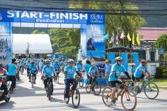 PHANG-NGA, ΤΑΪΛΆΝΔΗ 16 ΑΥΓΟΎΣΤΟΥ: Ποδήλατο για το γεγονός mom που γιορτάζει Στοκ φωτογραφίες με δικαίωμα ελεύθερης χρήσης