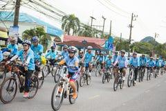 PHANG-NGA, ΤΑΪΛΆΝΔΗ 16 ΑΥΓΟΎΣΤΟΥ: Ποδήλατο για το γεγονός mom που γιορτάζει Στοκ φωτογραφία με δικαίωμα ελεύθερης χρήσης