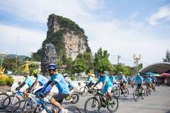 PHANG-NGA, ΤΑΪΛΆΝΔΗ 16 ΑΥΓΟΎΣΤΟΥ: Ποδήλατο για το γεγονός mom που γιορτάζει Στοκ εικόνες με δικαίωμα ελεύθερης χρήσης