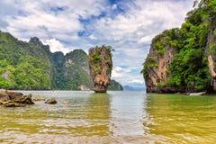 普吉岛詹姆斯庞德海岛Phang Nga 图库摄影