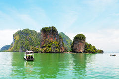 Phang Nga archipelago near Phuket, Thailand Royalty Free Stock Photos
