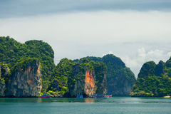 Phang Nga archipelago near Phuket, Thailand Royalty Free Stock Photo