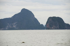 Phang Nga Bay. Is a 400 km2 bay in the Strait of Malacca between the island of Phuket and the mainland of the Malay peninsula of southern Thailand. Since 1981 Stock Image