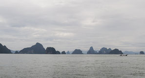 Phang Nga Bay. Is a 400 km2 bay in the Strait of Malacca between the island of Phuket and the mainland of the Malay peninsula of southern Thailand. Since 1981 Royalty Free Stock Photos