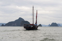 Phang Nga Bay. Is a 400 km2 bay in the Strait of Malacca between the island of Phuket and the mainland of the Malay peninsula of southern Thailand. Since 1981 Stock Photography