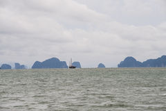 Phang Nga Bay. Is a 400 km2 bay in the Strait of Malacca between the island of Phuket and the mainland of the Malay peninsula of southern Thailand. Since 1981 Stock Images