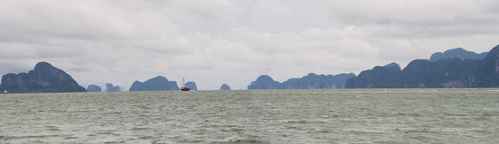 Phang Nga Bay. Is a 400 km2 bay in the Strait of Malacca between the island of Phuket and the mainland of the Malay peninsula of southern Thailand. Since 1981 Stock Photo
