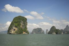 Phang Nga Bay National Park in Thailand. Eroded limestone islands of Phang Nga Bay in southern Thailand Stock Image