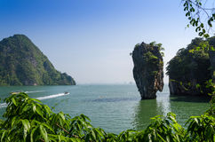 Phang Nga Bay, Tapu Island in Thailand Royalty Free Stock Photo