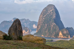 Phang Nga bay from Toh Li View Point, Thailand. Sunset View of Phang Nga bay from Toh Li View Point, Thailand Royalty Free Stock Photography