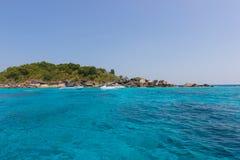 Phang Nga, beauté d'îles de la Thaïlande Similan de la mer Image stock