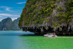 Phang Nga fjärd, Thailand Royaltyfria Bilder