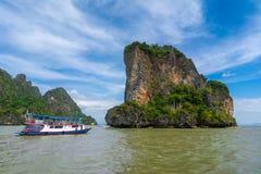 Phang Nga fjärd, Thailand Arkivbilder