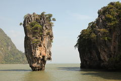 Phang Nga - James Bond Island (Koh Tapu) stock afbeelding