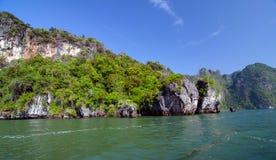 Phang Nga National Park in Thailand. Idyllic island of Phang Nga National Park in Thailand Royalty Free Stock Photos