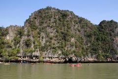 Phang Nga sur la mer en Thaïlande Île, caverne et kaya tropicaux Photo libre de droits