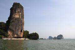 Phang Nga sur la mer en Thaïlande Île tropicale de James Bond Photo stock