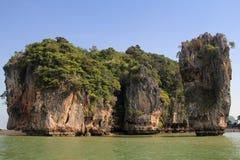 Phang Nga sur la mer en Thaïlande Île tropicale de James Bond Image libre de droits