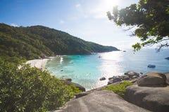 PHANG NGA, THAÏLANDE - 7 novembre 2015 ; belle île similan Photos libres de droits