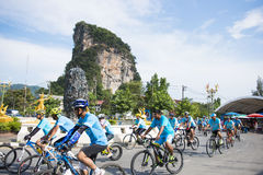 PHANG-NGA, THAILAND-AUGUST 16 : Bike for mom event to celebrate Royalty Free Stock Images