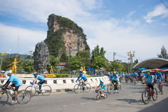 PHANG-NGA, THAILAND-AUGUST 16 : Bike for mom event to celebrate Stock Images