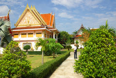 PHANG NGA THAILAND - Januari 8, 2014: Wat Kaeo Manee Si Mahatha Royaltyfria Foton