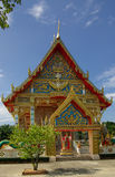 PHANG NGA THAILAND - Januari 8, 2014: Wat Kaeo Manee Si Mahatha Arkivfoto