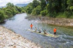 Phang-nga, Thailand - July 31, 2016: Bamboo Rafting at Glacier E Royalty Free Stock Image