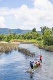 Phang-nga, Thailand - July 31, 2016: Bamboo Rafting at Glacier E Royalty Free Stock Photos