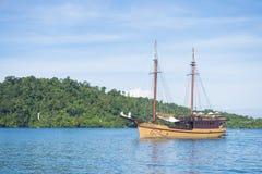 PHANG-NGA, THAILAND - November 7, 2015; thai travel boat at harb Stock Photography