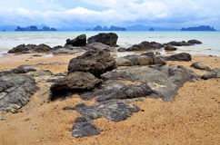 Phang Nga zatoka przy Yao Noi wyspą, Tajlandia Zdjęcia Royalty Free