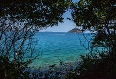 Phangan海岛 泰国 从观点的海 库存照片