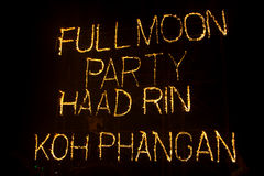 Phangan beach full moon party Stock Images