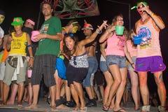 Phangan beach full moon party Royalty Free Stock Photos