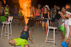 Phangan beach full moon party Royalty Free Stock Photography