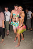Phangan beach full moon party Royalty Free Stock Images