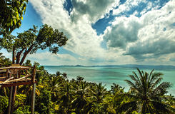 Phangan island. Thailand. Sea from view point. Stock Image