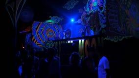 Phangan, Thaïlande - 16 mars 2018 : Shiva Moon Goa Trance Party banque de vidéos