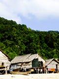 Phangnga,泰国3月15日-白话房子在摩根,海G 免版税库存图片