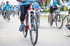 PHANGNGA, THAILAND 16. AUGUST: Fahrrad, damit Mutterereignis feiert Stockfoto