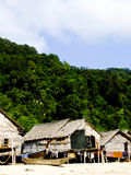 Phangnga, Thailand- March 15 -Vernacular houses in Morgan, sea G Royalty Free Stock Image