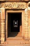 Phanom阶石头武里喃府泰国城堡废墟  免版税库存照片